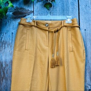 Chico's Pants - Chico's mustard cigarette style ankle pants sz S